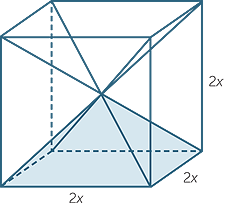 how to find the radius of a pentagonial pyramid