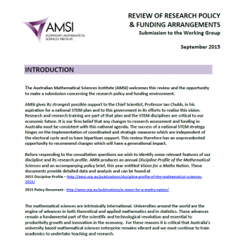 Research Policy and Funding Review