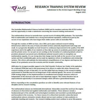 ACOLA Research Training System Review Submission