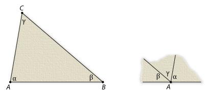 Triangle ABC With Interior Angles Alpha At A, Beta At B And Gamma At C