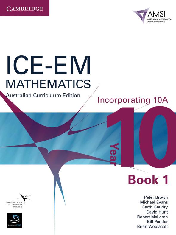 Ice Em Mathematics Australian Curriculum Edition Year 10 Book 1 Amsi