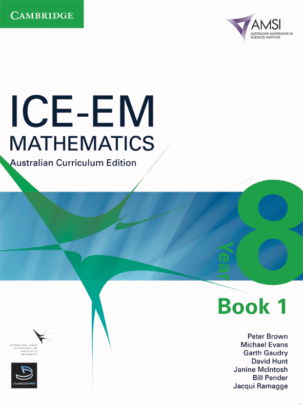 ICE-EM Mathematics Australian Curriculum Edition Year 8 Book