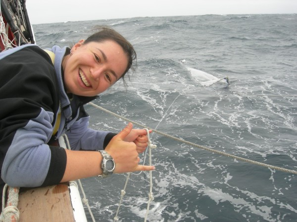 Miriam has trouble counting zooplankton and plastics on this choppy day. Image via Deepseanews.com